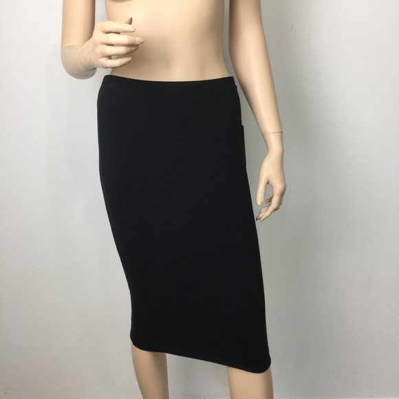 1452719108dca Vince Camuto Essentials Rich Black Midi Tube Skirt
